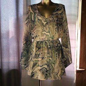 Show me your mumu snake print dress